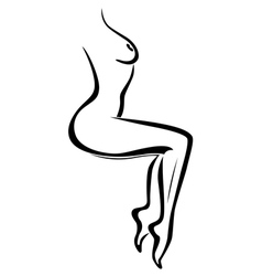Abstract body of sexy naked woman vector