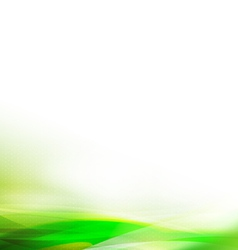 Abstract colorful green wave background vector
