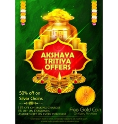 Akshaya Tritiya celebration Sale promotion vector