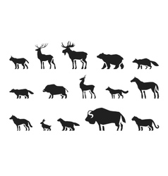 Animals icons set vector