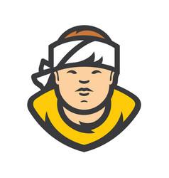 asian sushi chef cartoon vector image