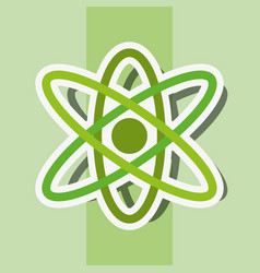 atom molecule cell system energy sticker vector image