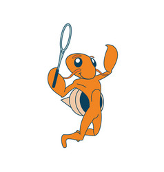 Badminton playing hermit vector