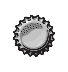 beer bottle cap isolated on vector image