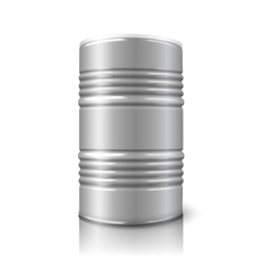 Blank realistic big oil barrel isolated on vector