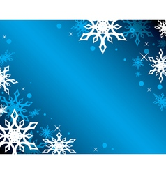 Blue background with white snowflakes vector