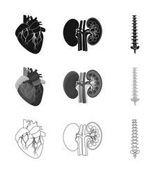body and human logo set of vector image
