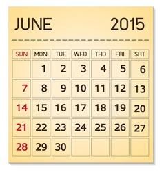 Calendar 2015 06 June vector