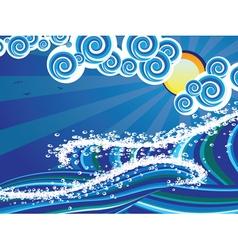 Cartoon Stormy Sea4 vector