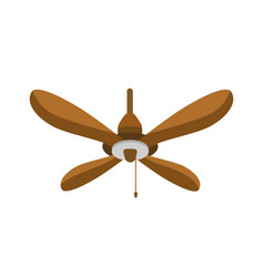 ceiling fan flat hanging vector image