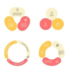 Circular infographics with 3 sections vector