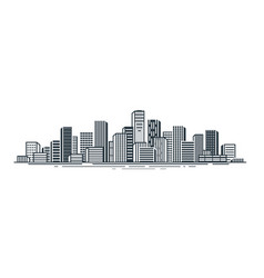 city view urban landscape skyscrapers building vector image