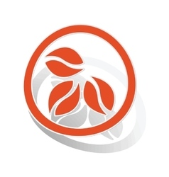 Coffee sign sticker orange vector