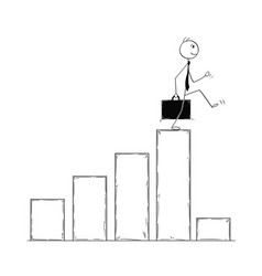 conceptual cartoon of businessman facing crisis vector image