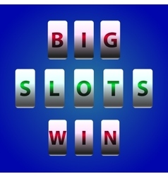 Counter Big Win Slots vector image