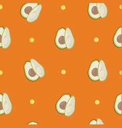 Cute avocado orange pattern minimalist vector