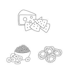 Design taste and crunchy logo set of vector