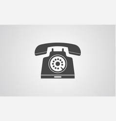desk phone icon sign symbol vector image