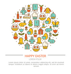 easter with your text vector image
