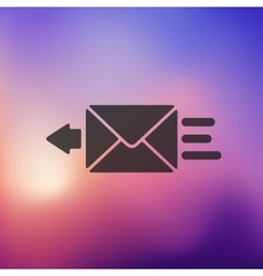 envelope icon on blurred background vector image