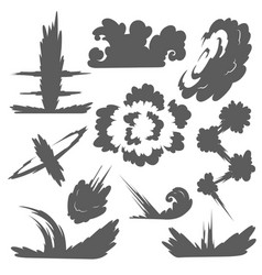 explosion with smoke cloud fog flat isolated vector image