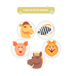 find an extra animal vector image