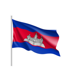 flag of kingdom of cambodia vector image