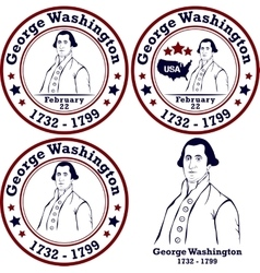 George Washington stamps vector image