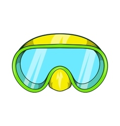 Goggles for diving icon cartoon style vector image