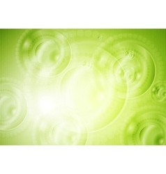 Green shiny tech background vector