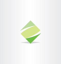green square logo letter z logotype z icon vector image