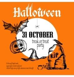 Halloween Sketch Background vector image