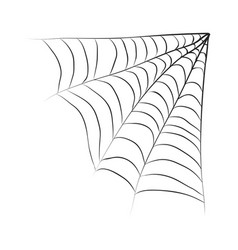halloween spiderweb symbol icon design vector image