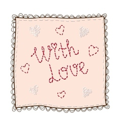 Handkerchief with embroidery vector