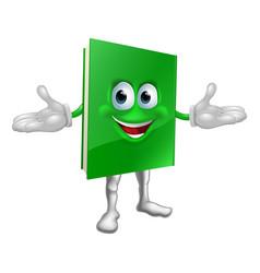 happy cartoon book man vector image