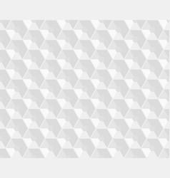 hexagonal white embossed seamless pattern vector image
