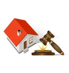 Home and gavel real estate vector