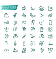 Hygiene and cleanliness icons set vector
