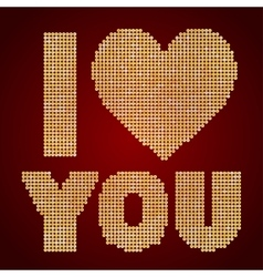 I love you Sequin Valentines Day vector