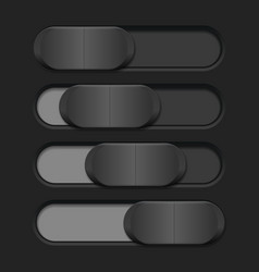 Interface slider gray bar on dark background vector