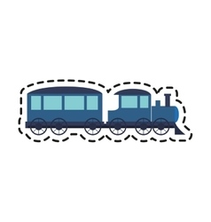 Isolated train toy design vector