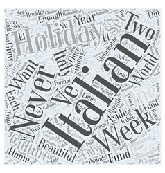 Italian holiday Word Cloud Concept vector