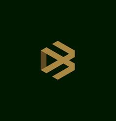 Letter b initial symbol logo design vector