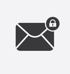 mail icon with padlock sign vector image