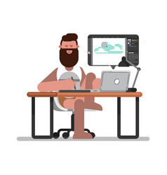 man freelancer designer vector image