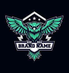Mascot blue e sport logo vector
