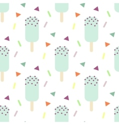 Mint ice cream seamless pattern vector