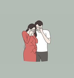 Miscarriage pregnancy loss abortion concept vector