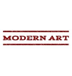 Modern Art Watermark Stamp vector