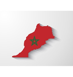 Morocco map with shadow effect vector image